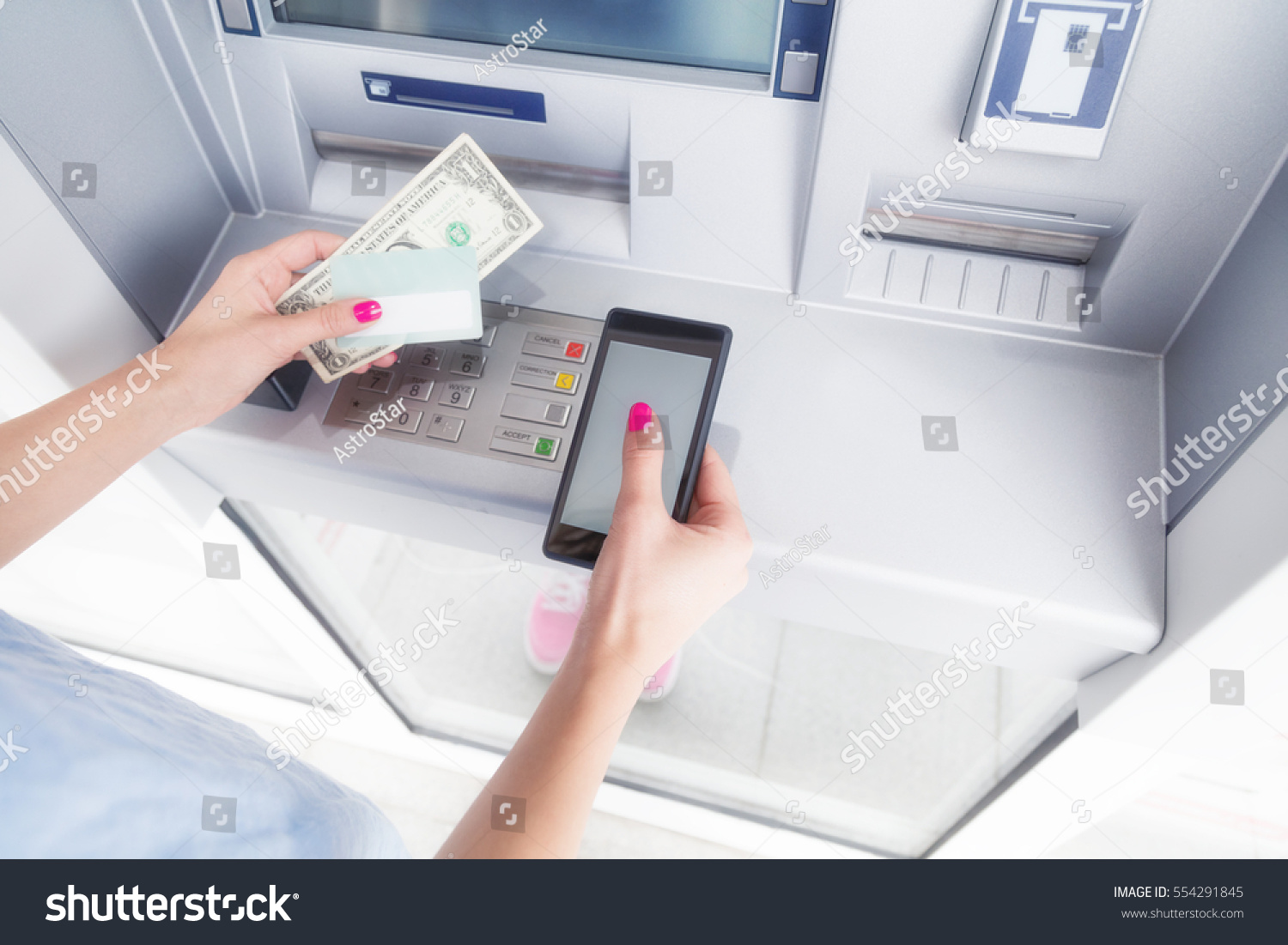 cell phone atm machine