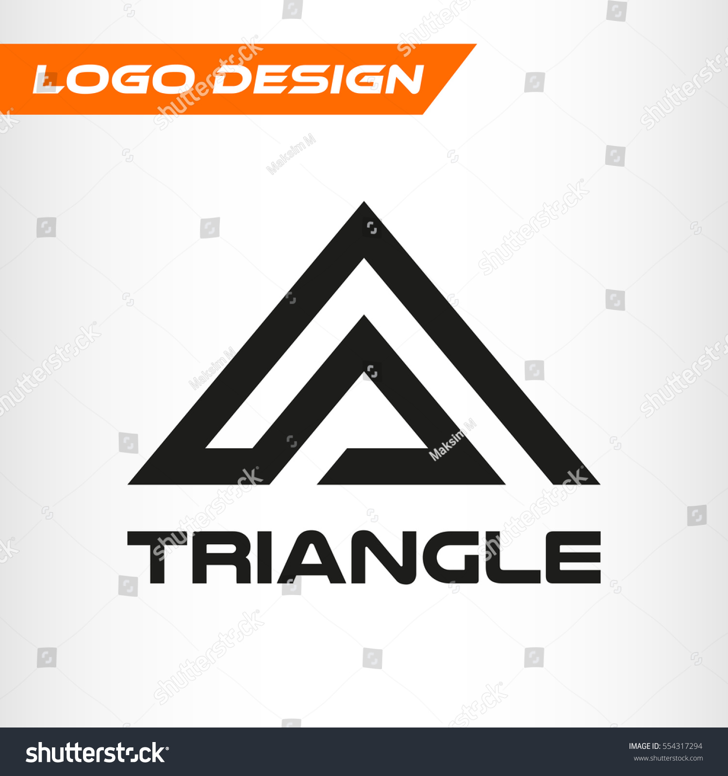 Triangle logo abstract letter a minimal 554317294 for Minimal art logo