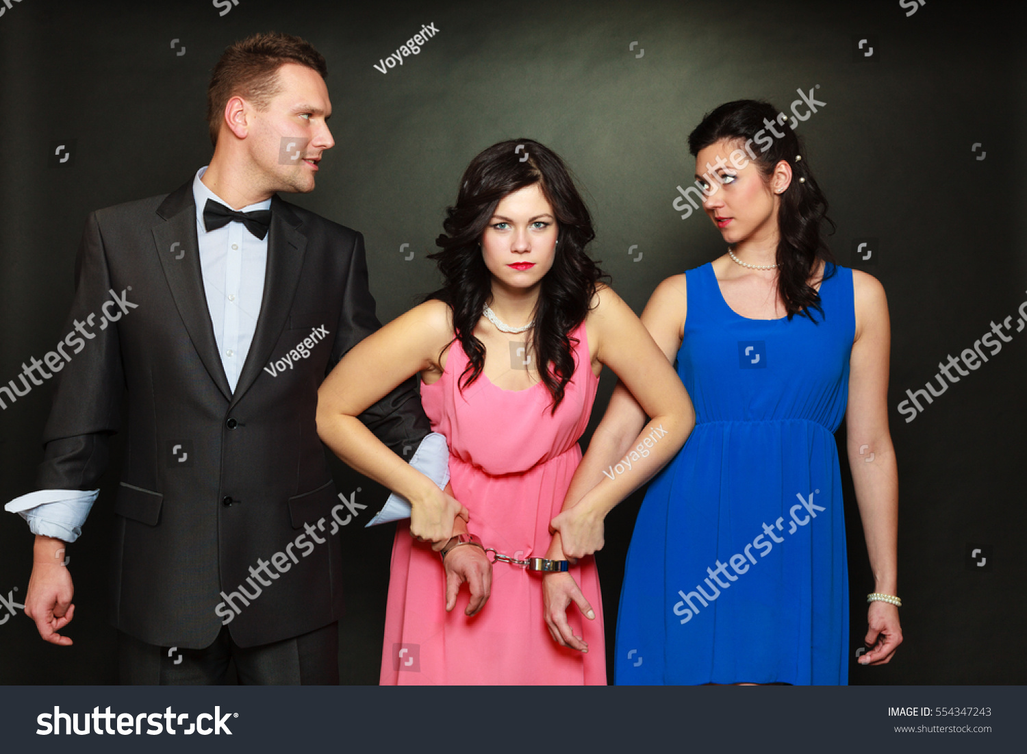 Couple Cheating Problems Love Triangle Concept Stock Photo -8355