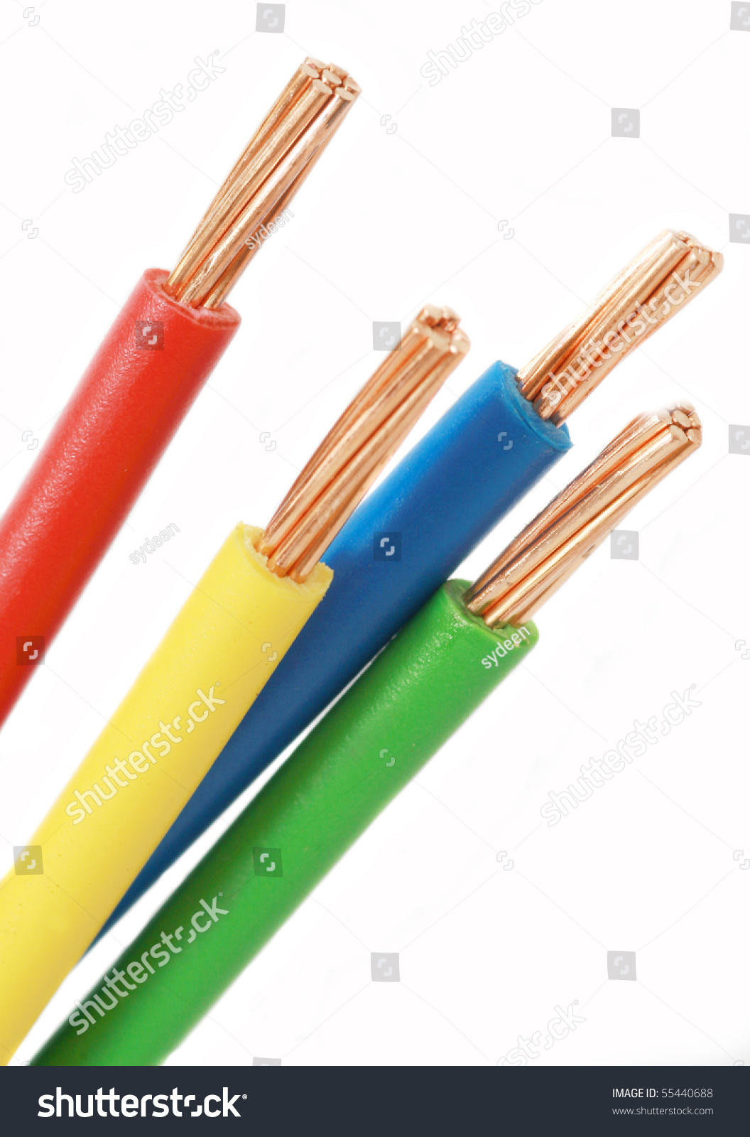 Cable Used In Electrical Wiring Systems Stock Photo