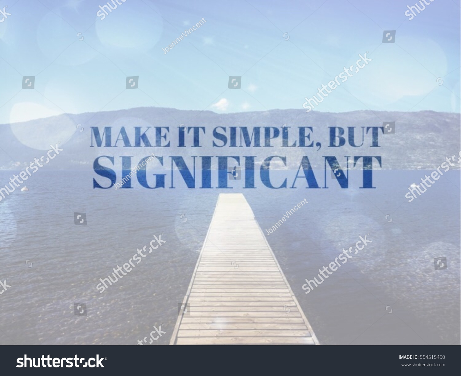 Inspirational Quote On Lake Landscape Wooden Stock Photo Edit Now