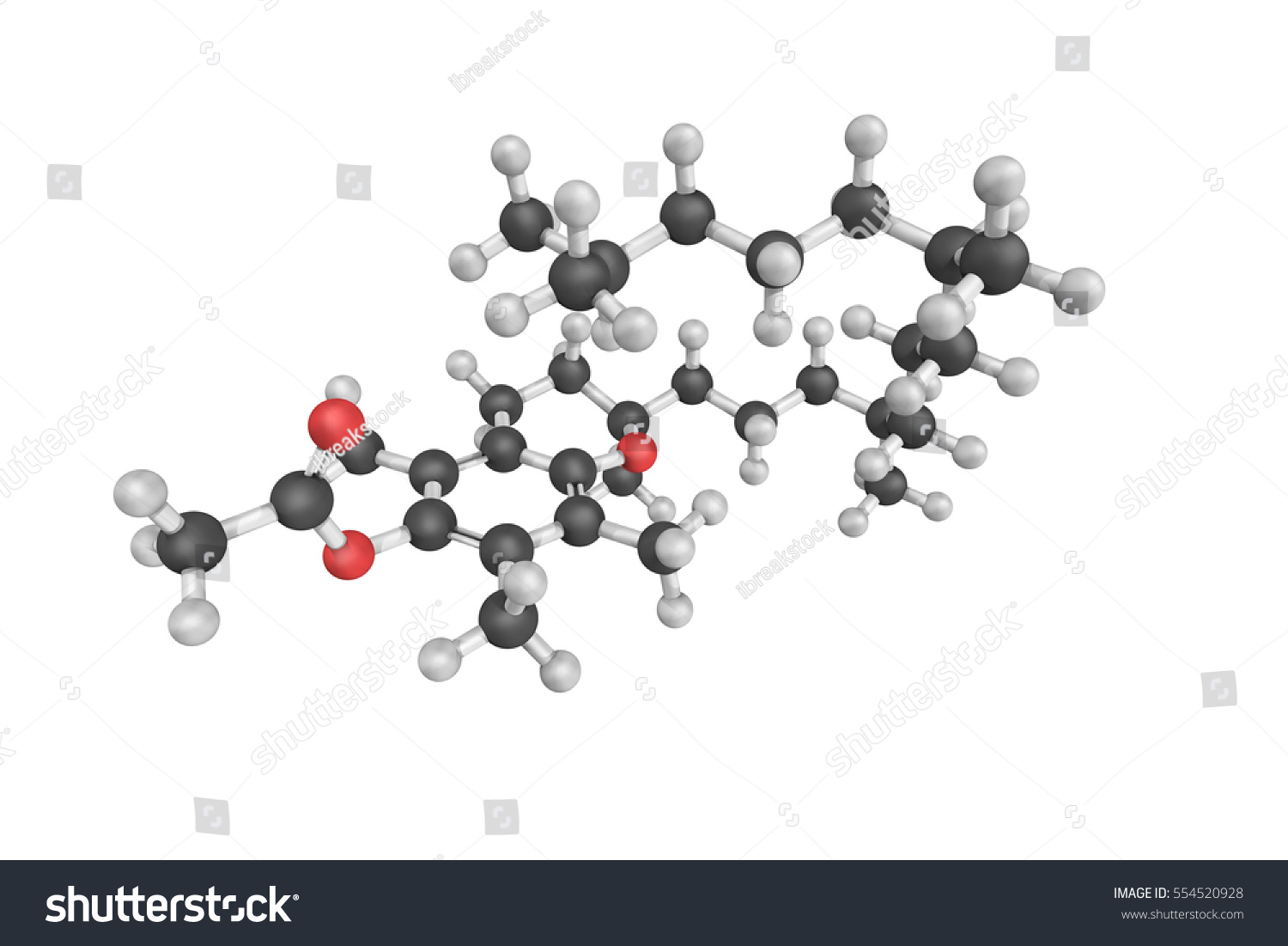 3d structure tocopheryl acetate known vitamin stock illustration 3d structure of tocopheryl acetate also known as vitamin e acetate a common vitamin biocorpaavc