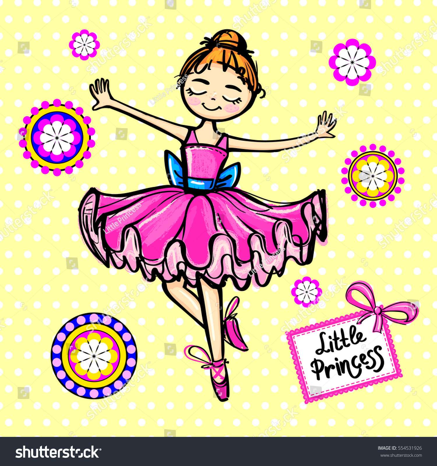 Girlish Cute Wallpaper Dancing Girl Ballerina 554531926