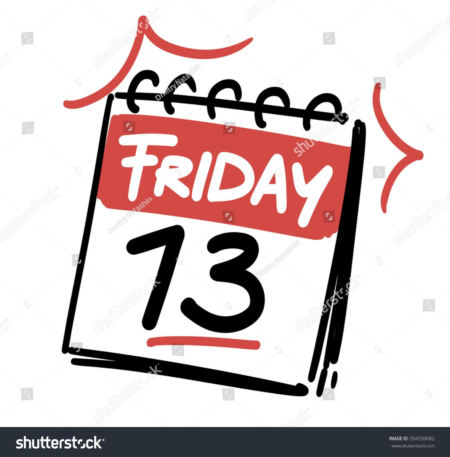 friday 13 th calendar date stock vector 554550082 shutterstock rh shutterstock com friday the 13th free clipart