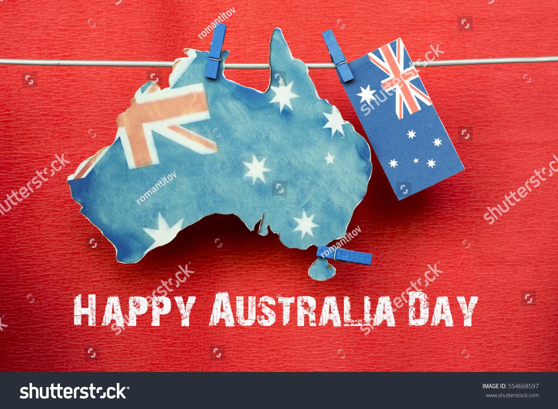 Celebrate australia day holiday on january stock photo edit now celebrate australia day holiday on january 26 with a happy australia day message greeting written m4hsunfo