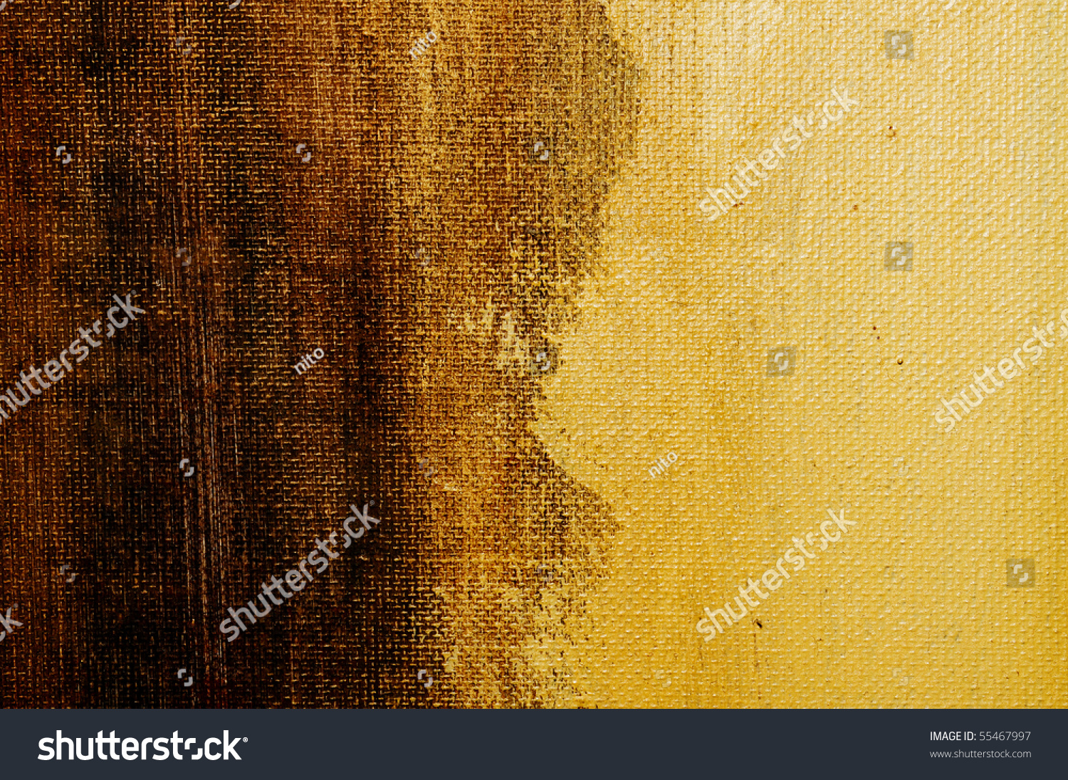 Brushstrokes Different Shades Brown Paint On Stock Photo