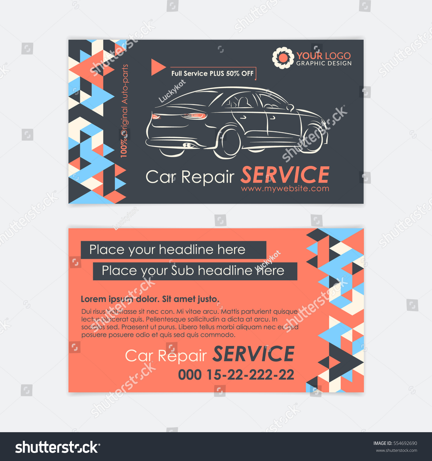 Automotive Service Business Card Template Car Stock Photo Photo - Create your own business card template
