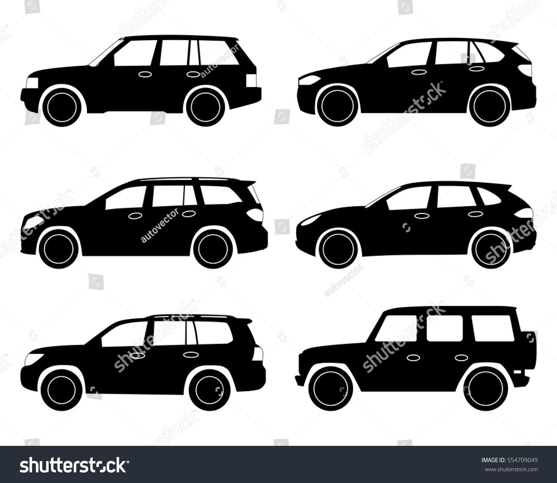 Car Icon Suv Set Stock-Vektorgrafik (Lizenzfrei) 554709049 ...