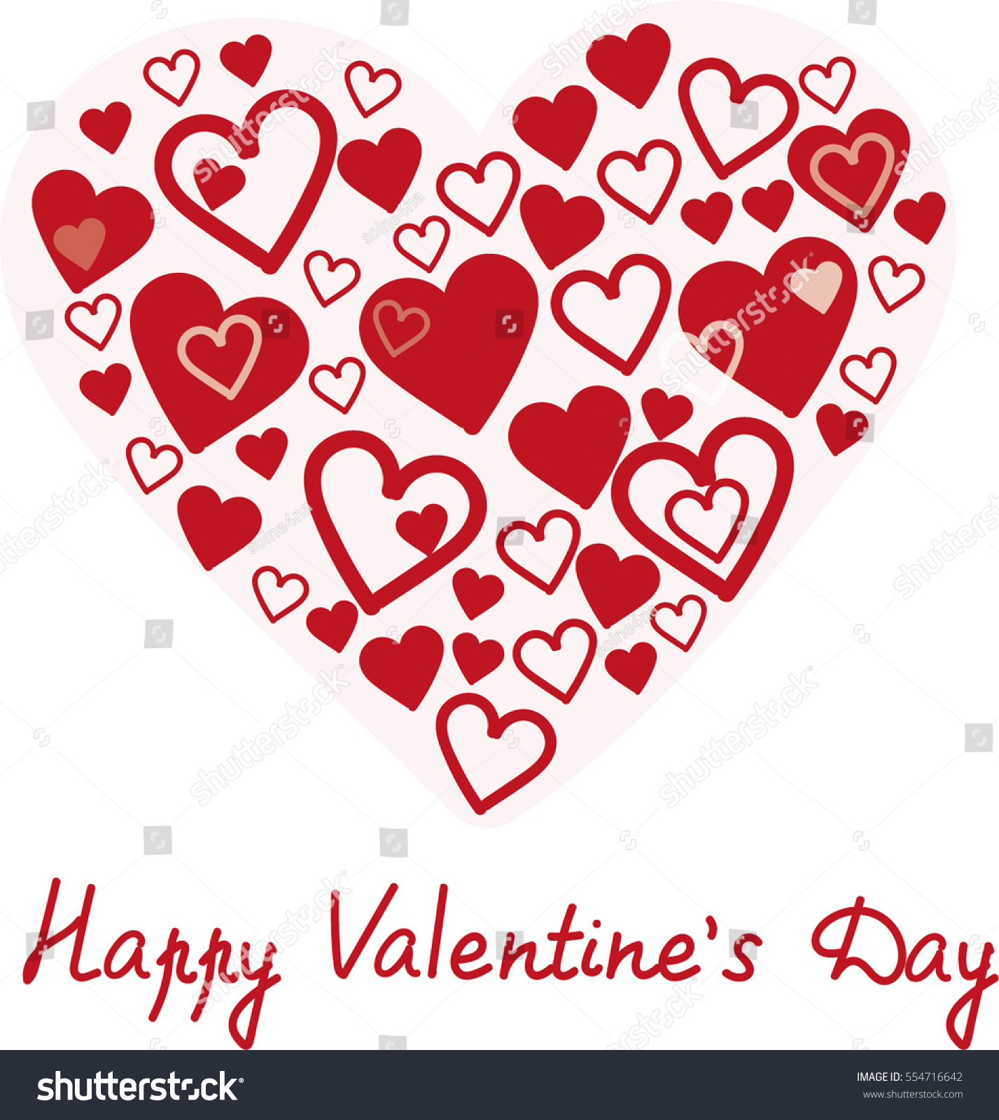 Happy Valentines Day Greetings Card Red Stock Photo Photo Vector