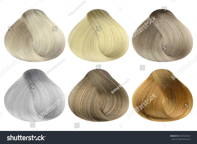 Set Locks Six Different Blonde Hair Stock Photo (Royalty Free ...