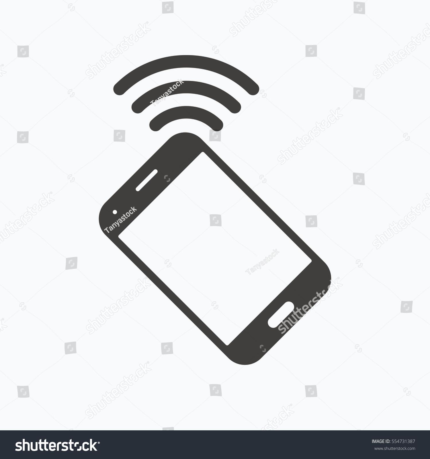 Cellphone Icon Mobile Phone Communication Symbol Stock Illustration