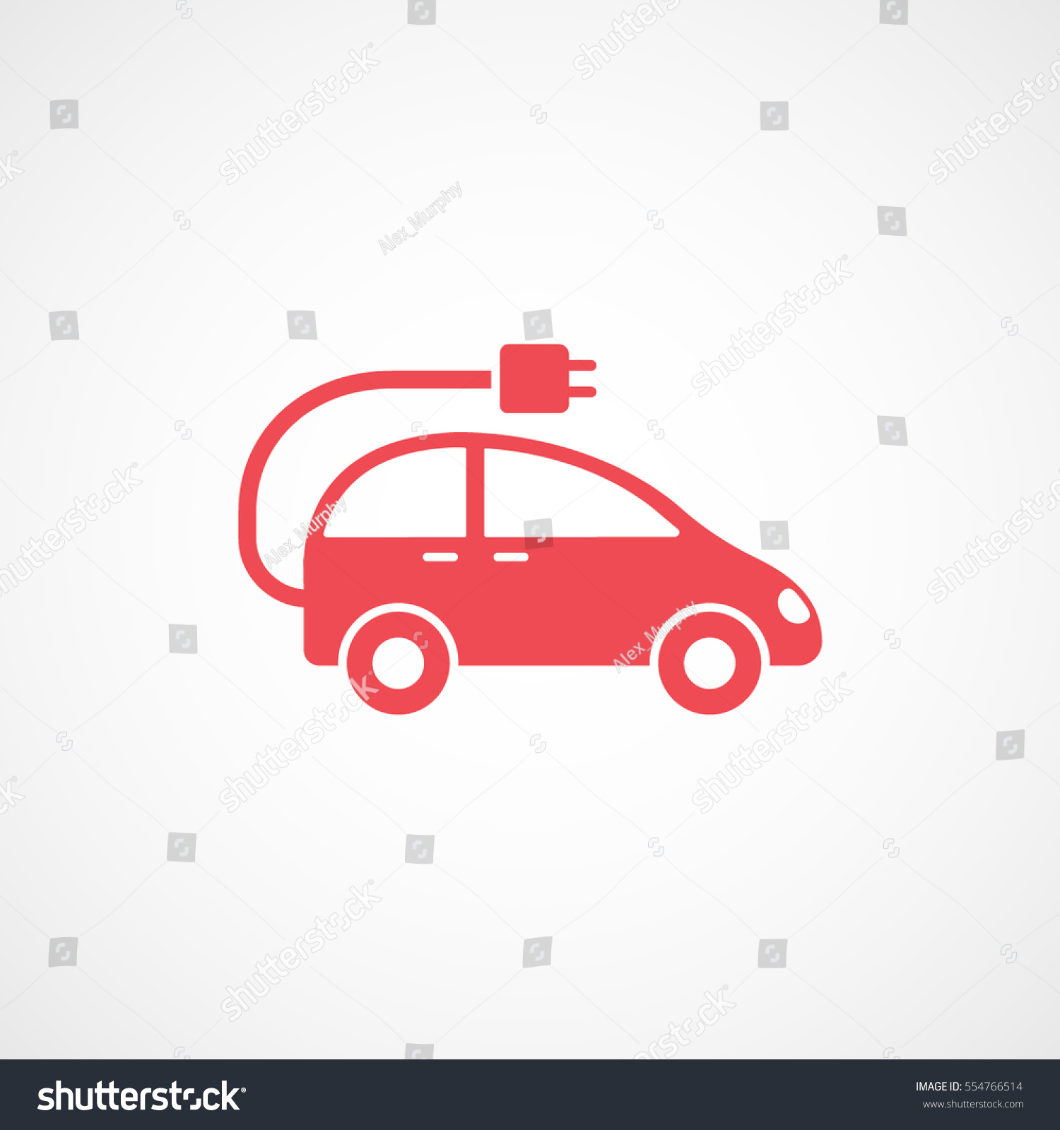 Ecology Electrical Car Wire Red Flat Stock Vector 554766514 ...