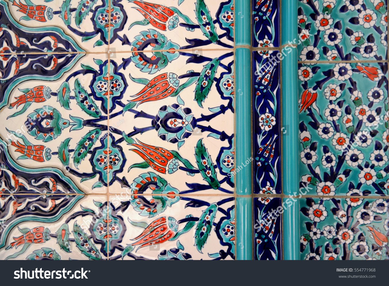 Detail Izmirstyle Patterned Wall Tile Muscat Stock Photo (Royalty ...