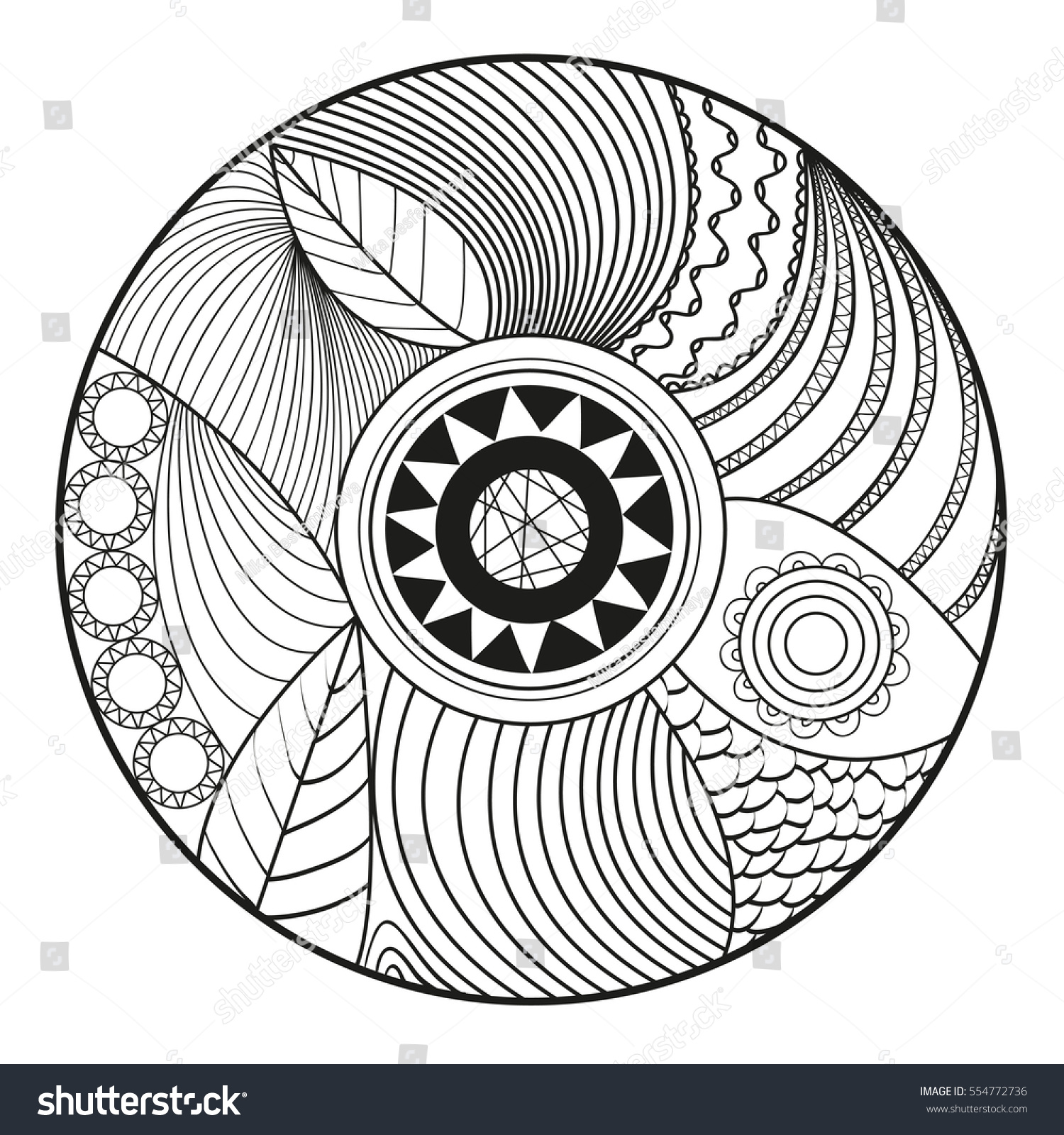 circle abstract coloring pages - photo#25