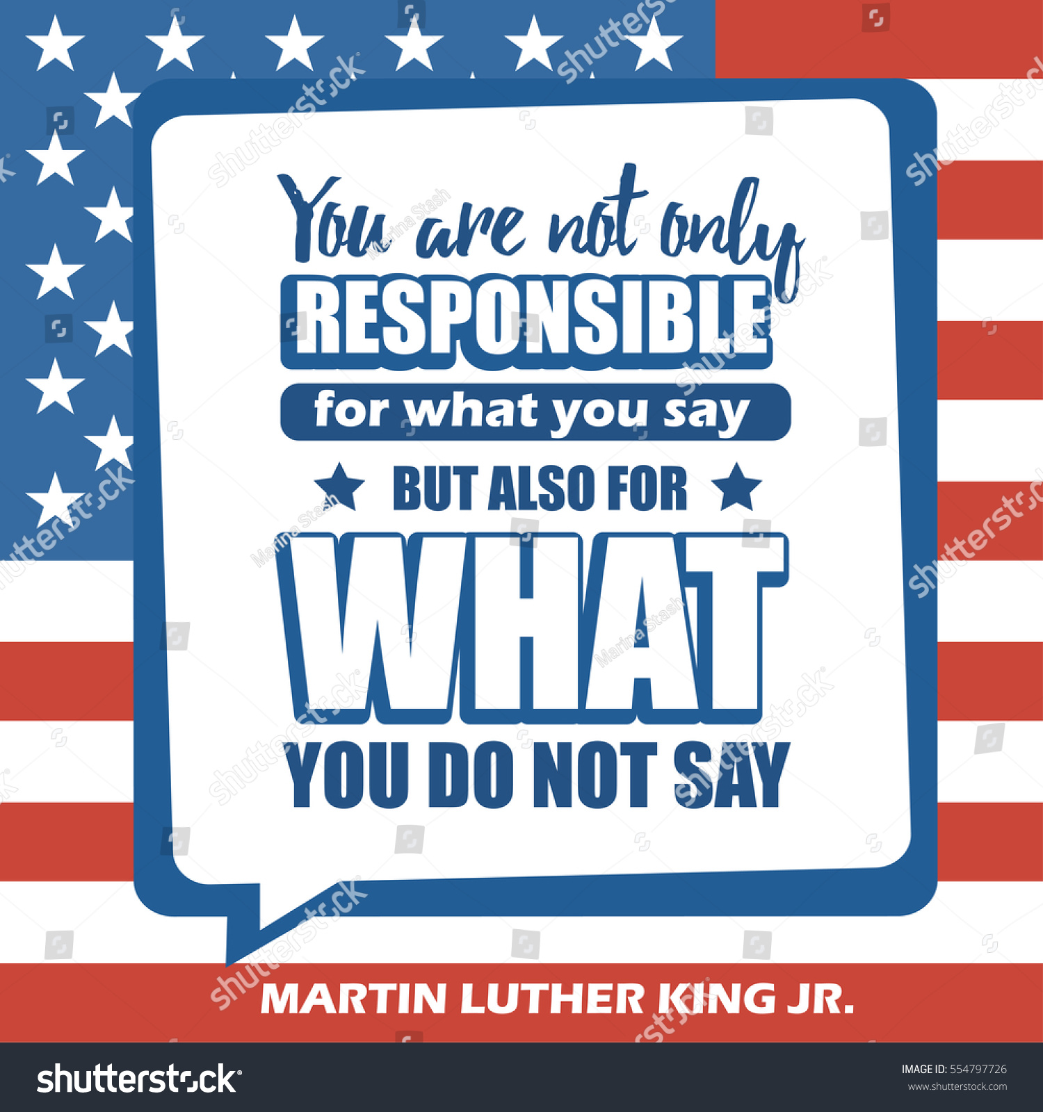 Martin Luther King Jr Day Greeting Stock Vector 554797726 ...