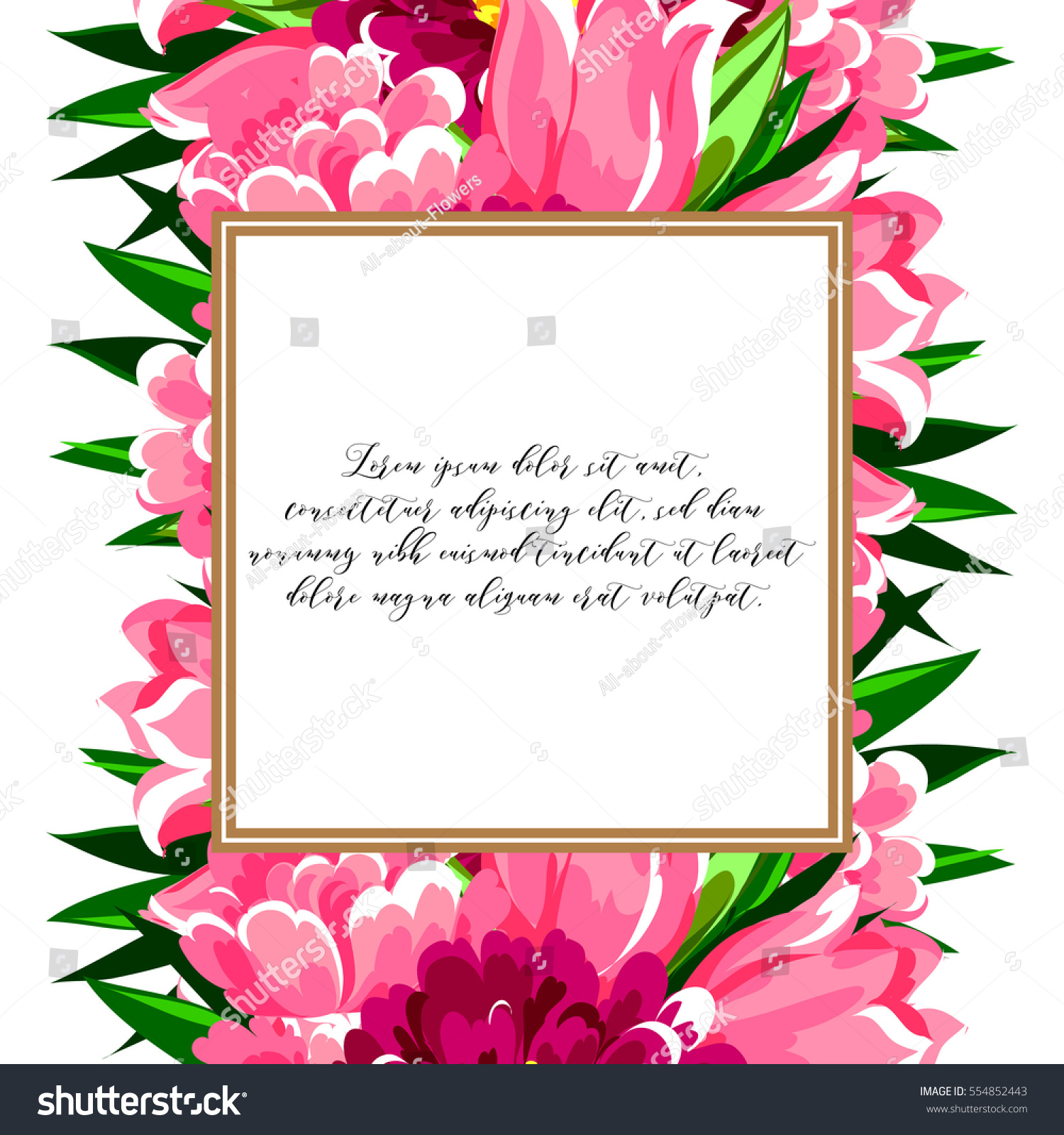 b43c95757 Vintage Delicate Invitation Flowers Wedding Marriage Stock ...