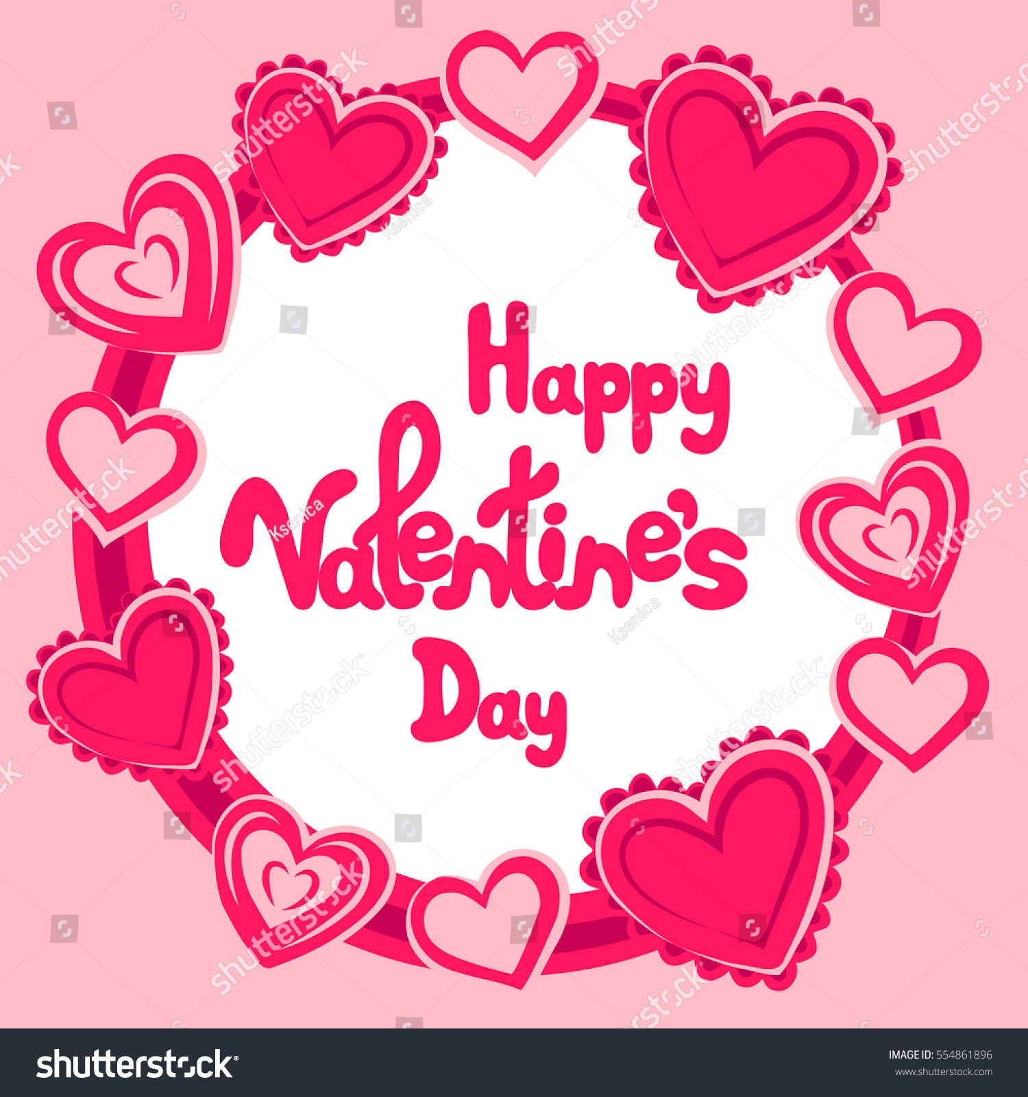 happy valentines day greeting card hearts stock vector 554861896 happy valentines day