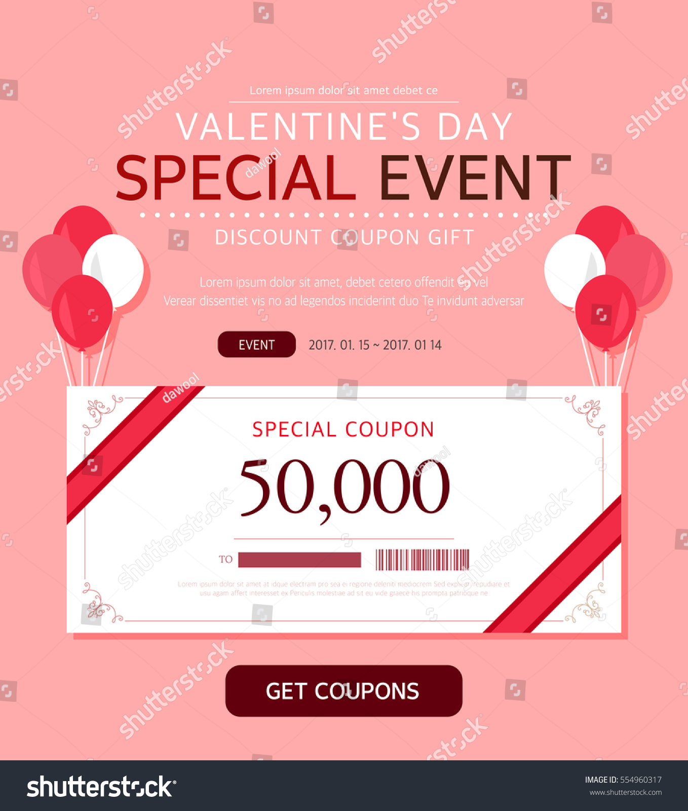 Valentines Day Event Illustration Stock Vector Royalty Free