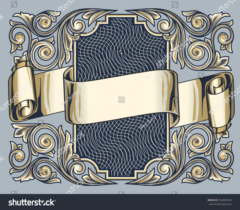Vintage Decorative Ornate Design Stock Vector 554995345
