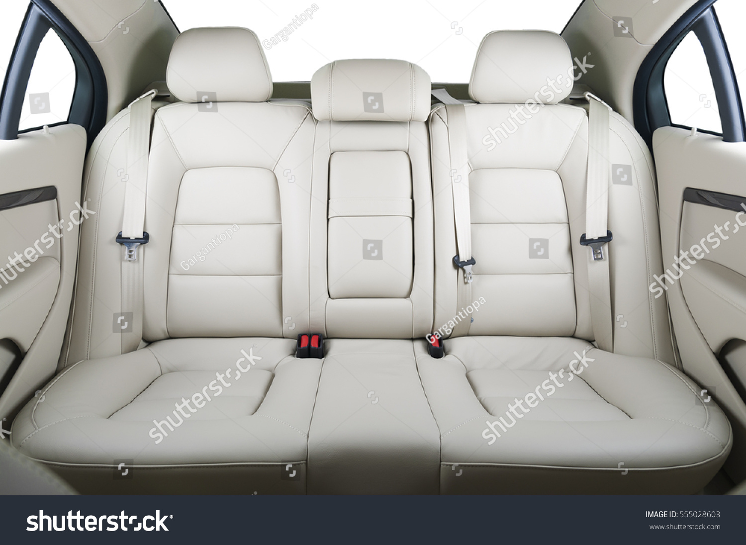 back passenger seats modern luxury car stock photo 555028603 shutterstock. Black Bedroom Furniture Sets. Home Design Ideas