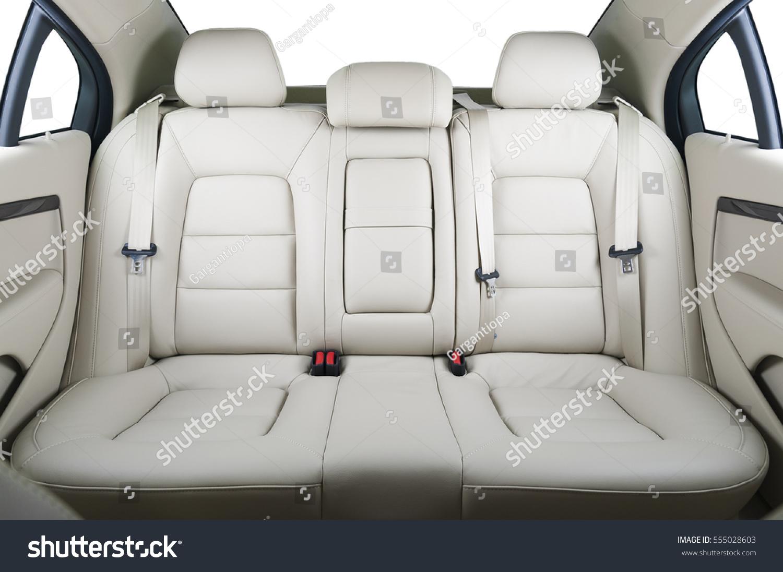 back passenger seats modern luxury car stock photo 555028603 shutterstock. Black Bedroom Furniture Sets. Home Design Ideas