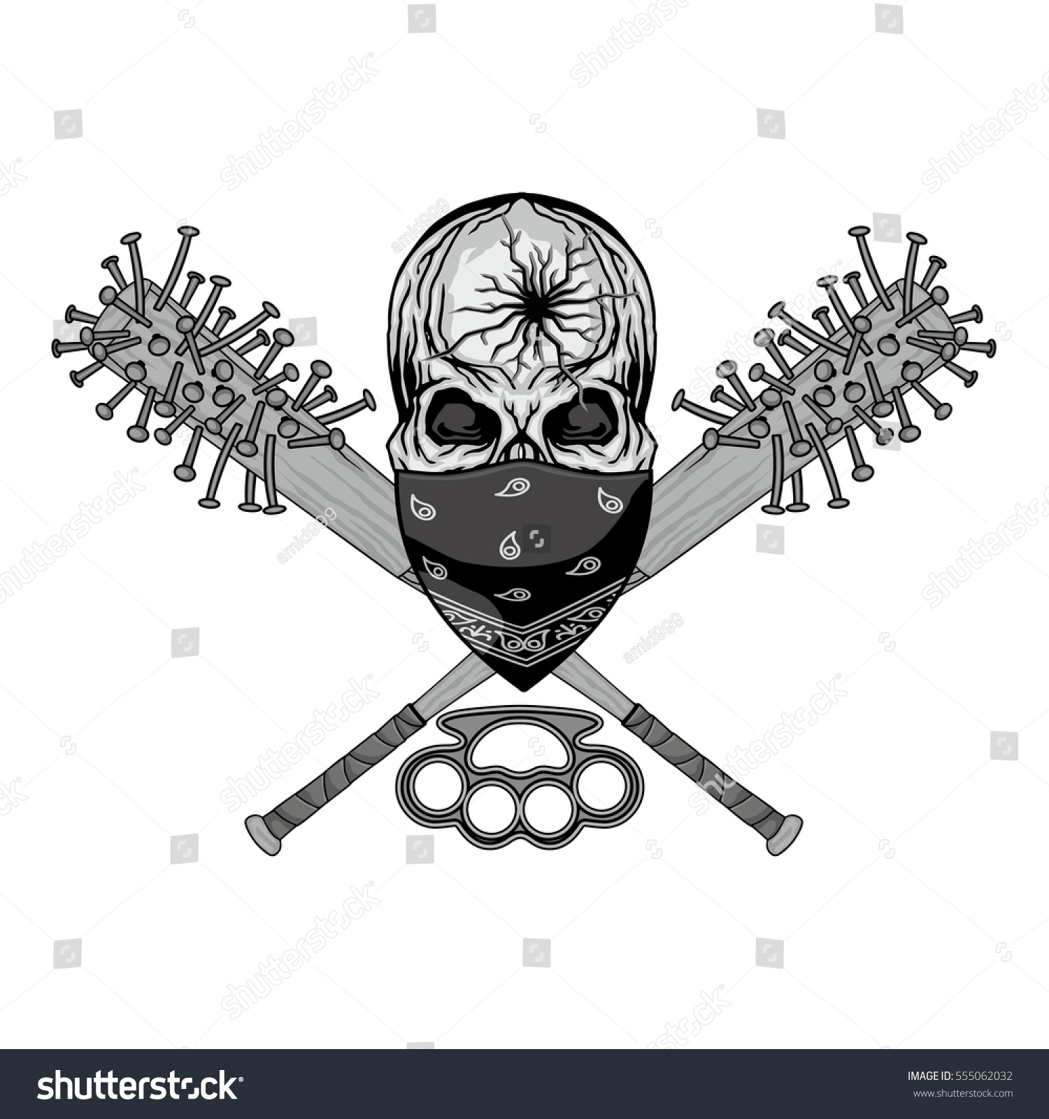 Barbed Wire Baseball Bat Sketch Center Amplifier Ocl 80w Hifi By Ic Tda2020 Electronic Projects Circuits Military Coat Arms Skull Stock Vector Royalty Free Rh Shutterstock Com