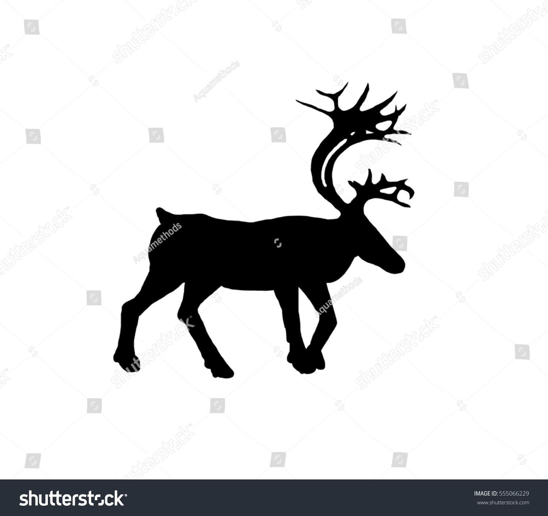 Christmas Deer Silhouette Stock Illustration 555066229 - Shutterstock