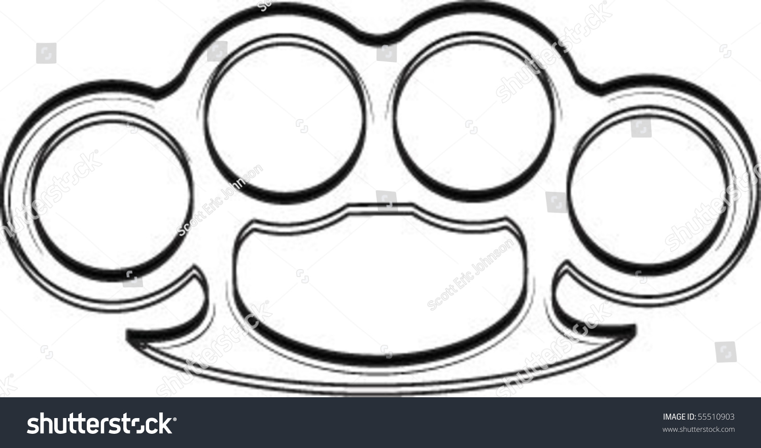 Brass knuckles stock vector 55510903 shutterstock for Brass knuckles template
