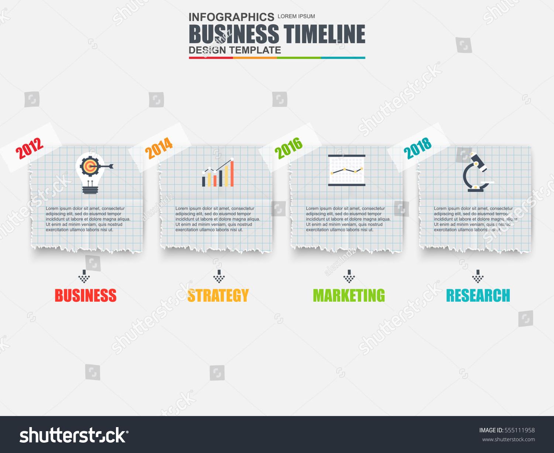 infographic business timeline data visualization vector stock vector 555111958 shutterstock. Black Bedroom Furniture Sets. Home Design Ideas