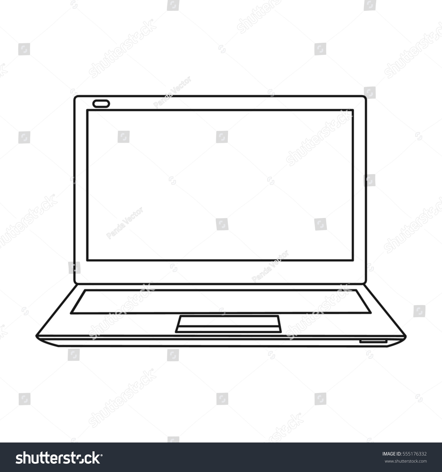 Laptop icon outline style isolated on stock illustration 555176332 laptop icon in outline style isolated on white background personal computer symbol stock rastr illustration biocorpaavc
