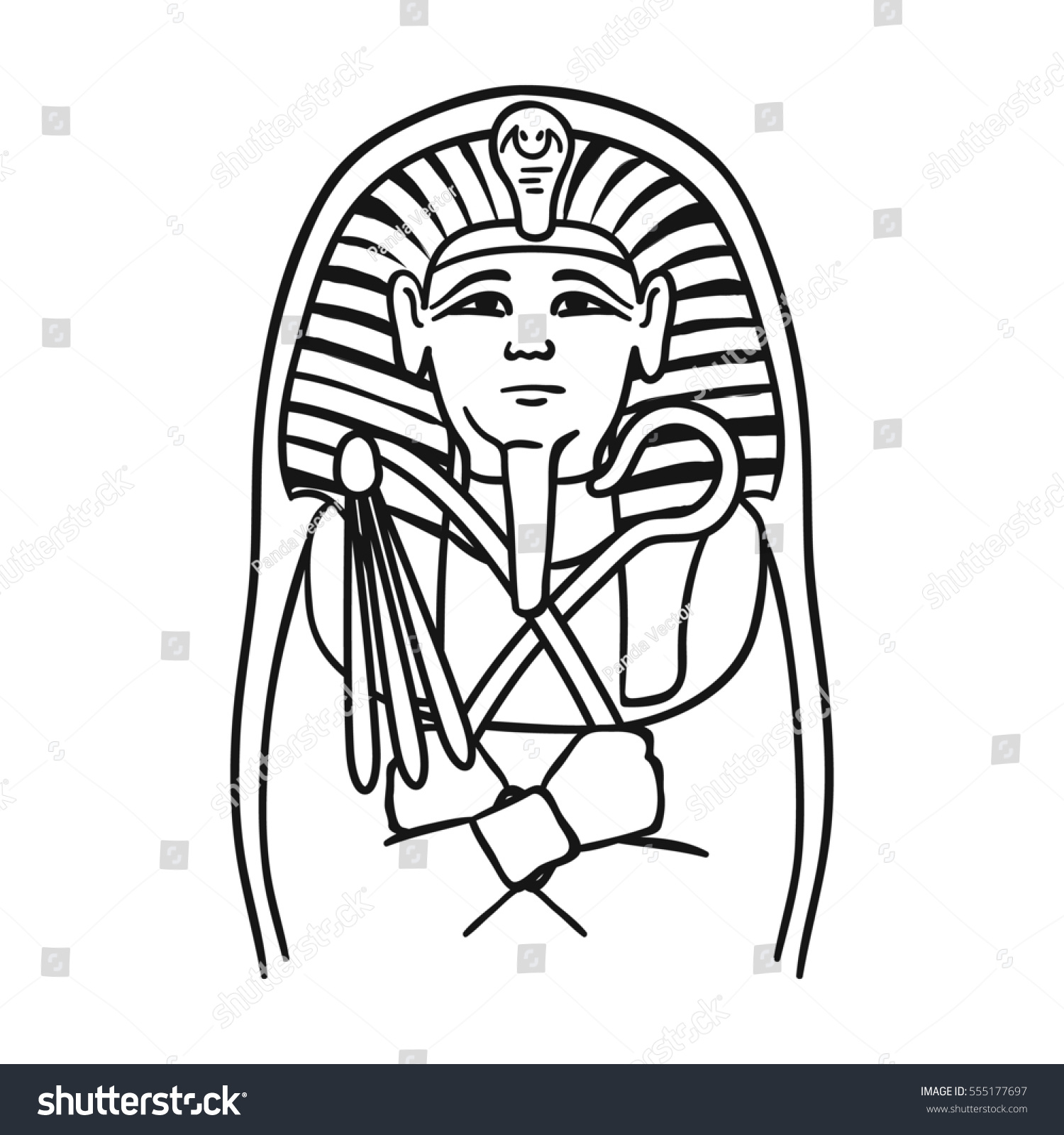Egyptian pharaoh sarcophagus icon outline style stock illustration egyptian pharaoh sarcophagus icon in outline style isolated on white background museum symbol stock rastr buycottarizona