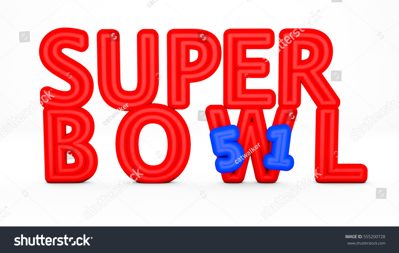 Royalty Free Stock Illustration Of 3 D Render 51 Edition Super Bowl