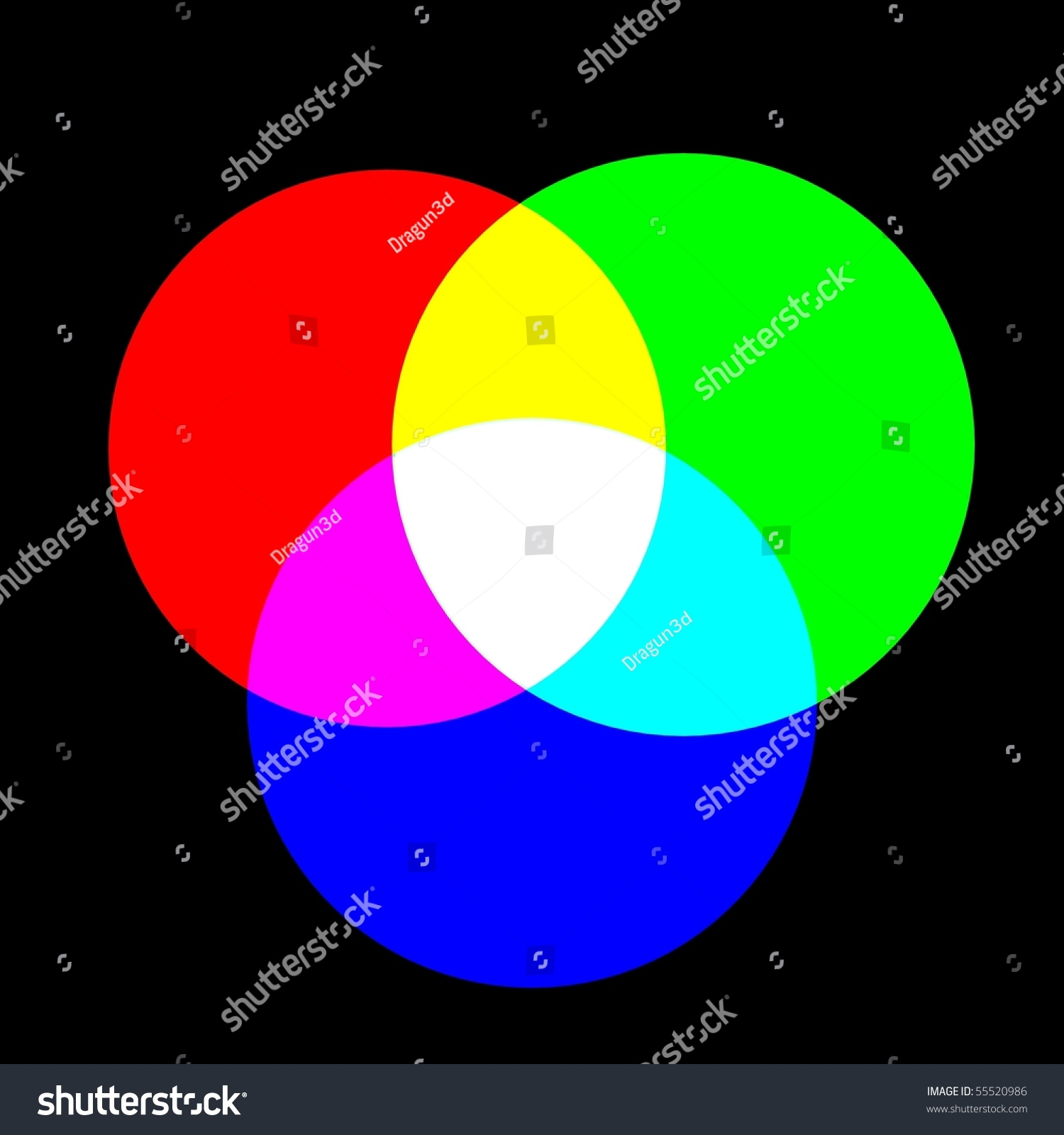 Mixing colors rgb black background 3d stock illustration 55520986 mixing colors rgb black background 3d render geenschuldenfo Image collections