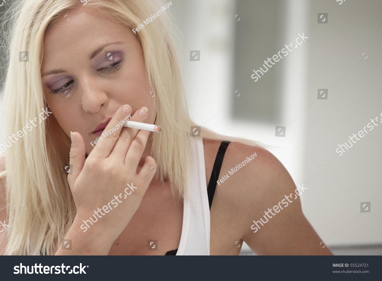 Sexy braces smoking