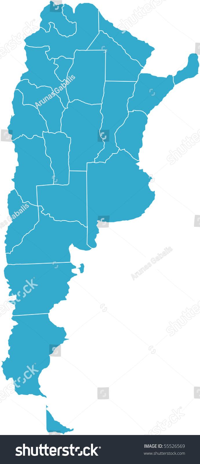 There Map Argentina Country Stock Vector Shutterstock - Argentina map of country