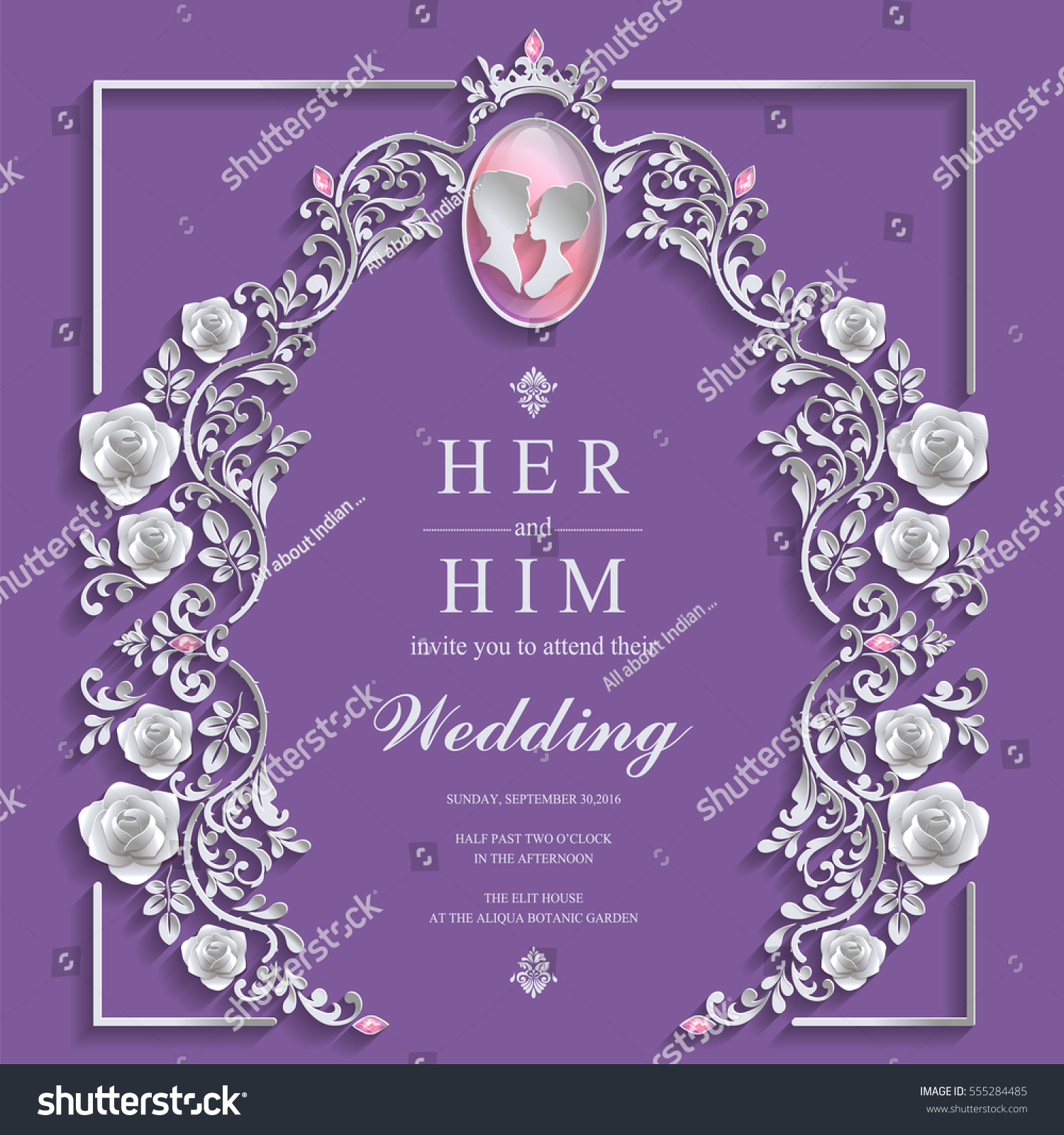Wedding Invitation Card Templates Paper Art Stock Vector Royalty
