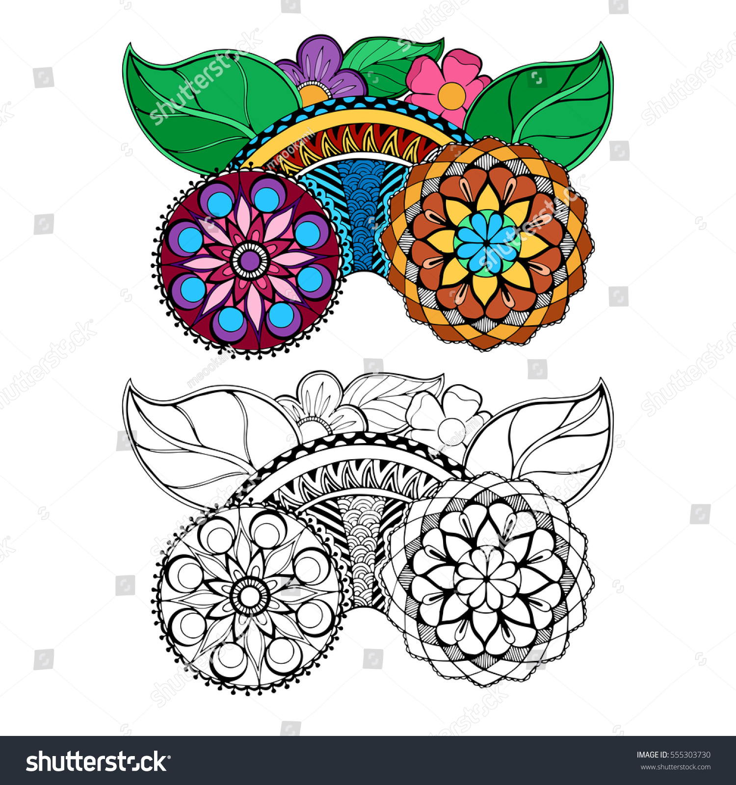 Page Coloring Book Very Interesting Relaxing Stock Vector 555303730
