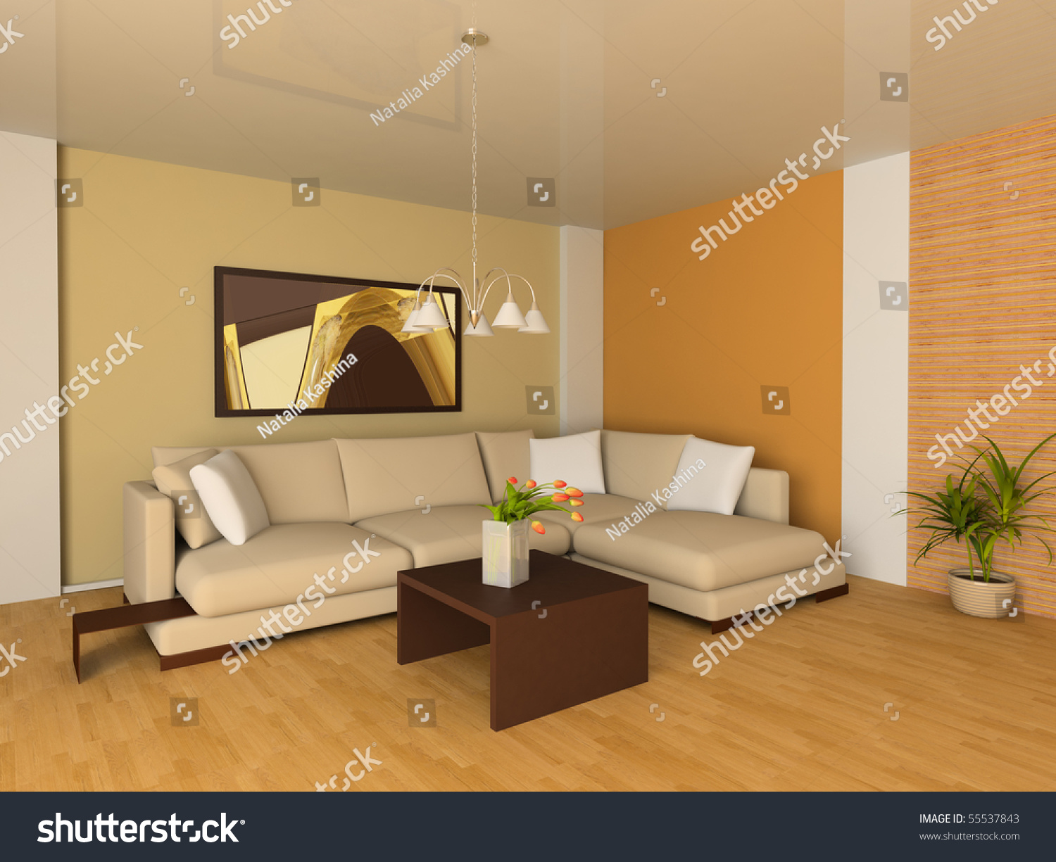 Sofa drawing room 3d image stock illustration 55537843 for 3d bedroom drawing