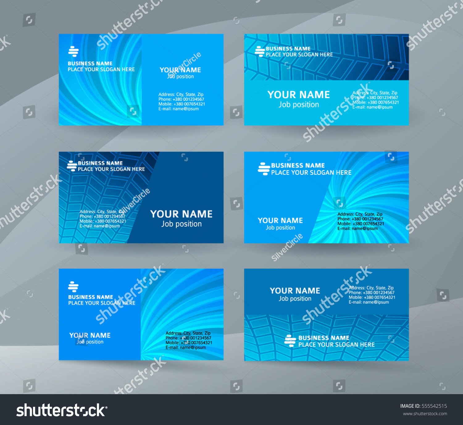 Abstract Professional Designer Business Card One Stock Vector ...