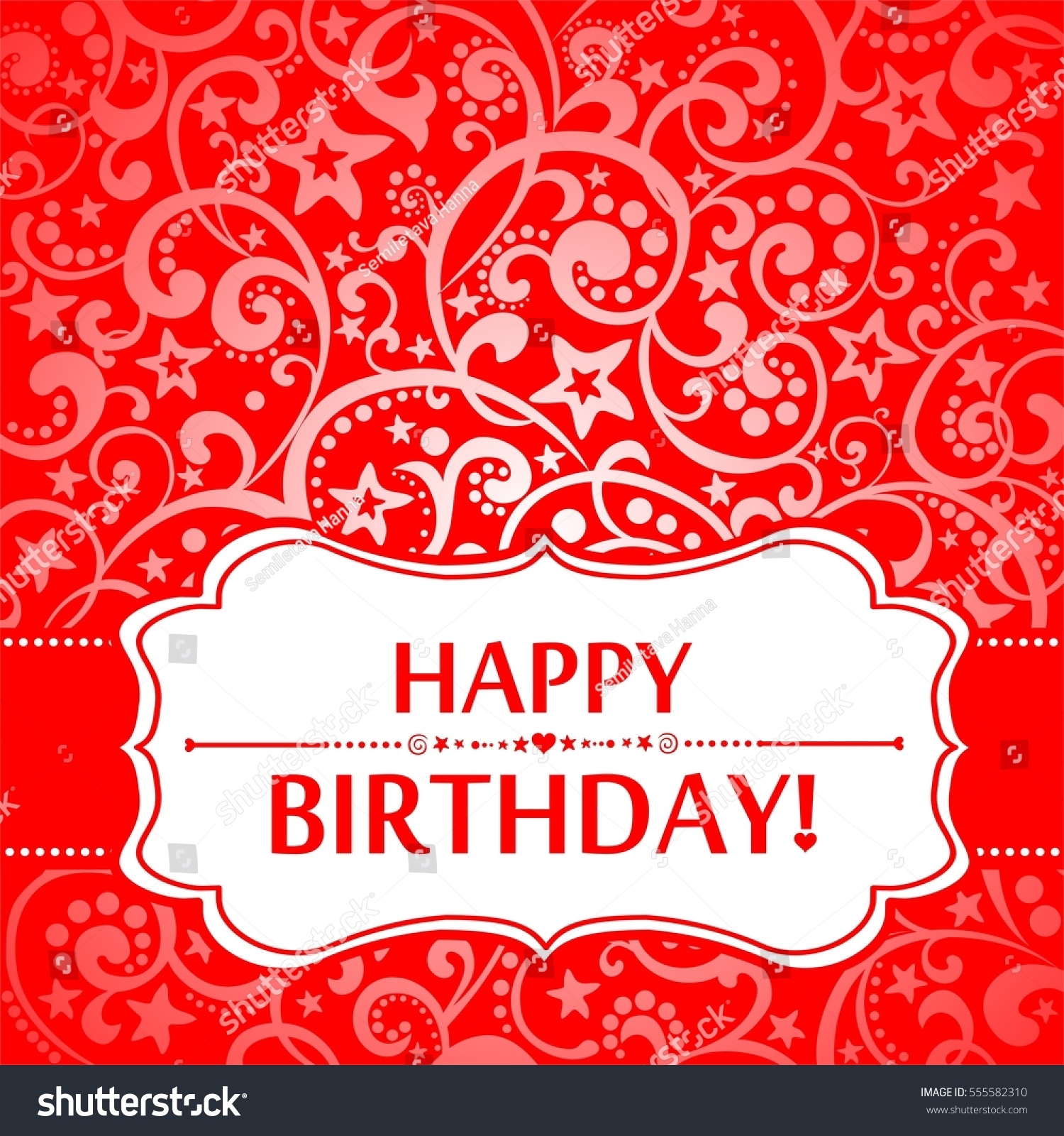 Happy Birthday Card Greeting Card On Stock Illustration 555582310