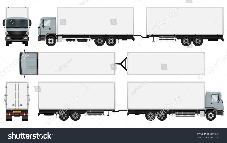 trailer truck vector mock advertising corporate stock vector