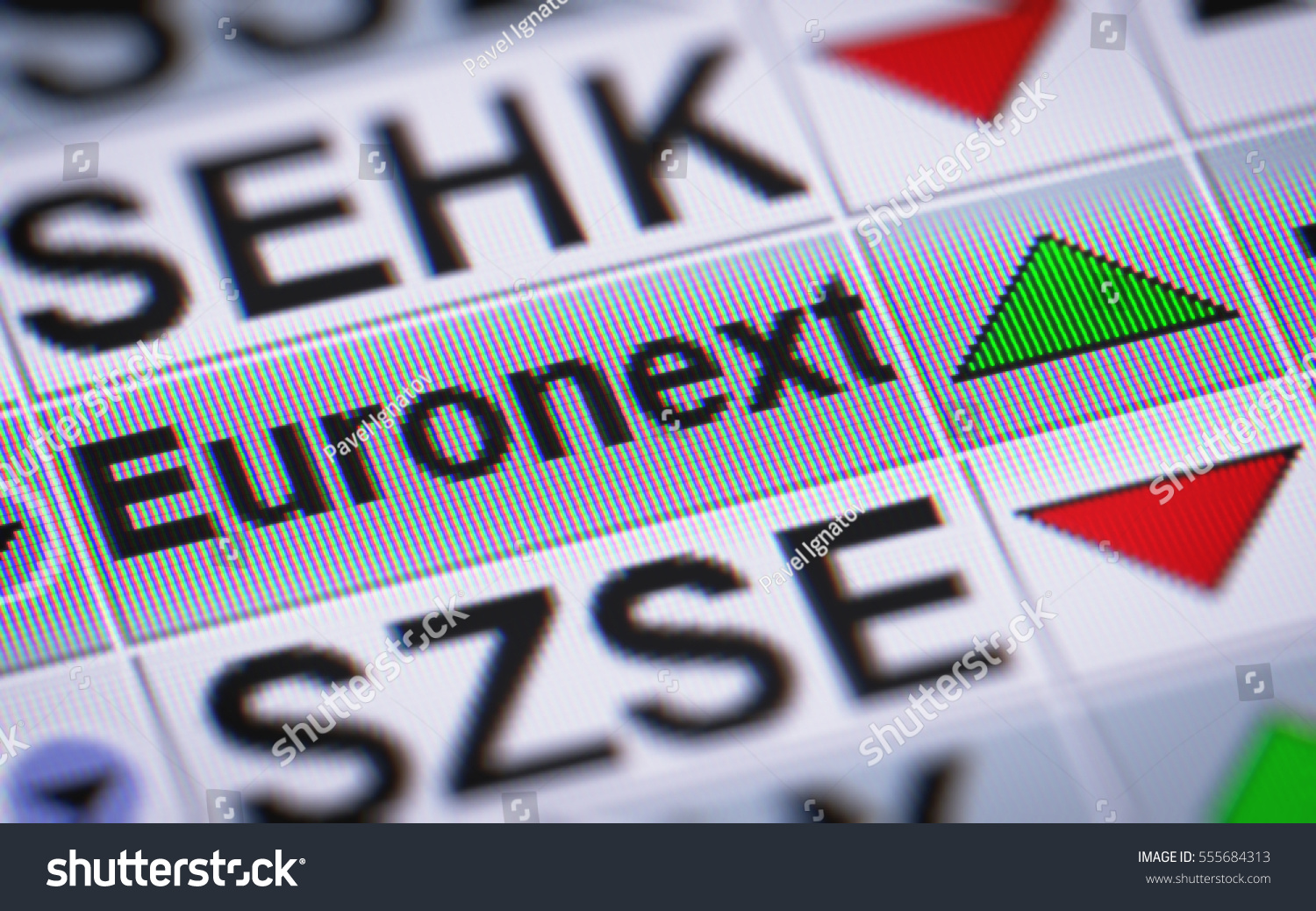 Euronext Nv European Stock Exchange Seated Stock Illustration