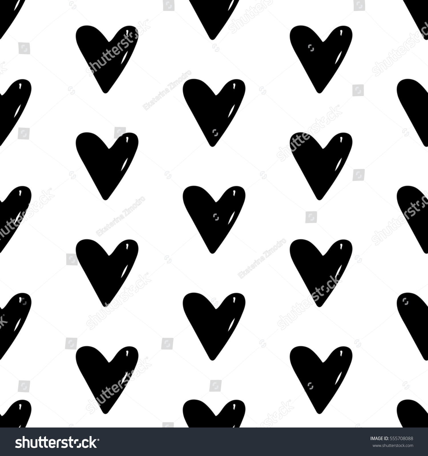 Abstract Heart Pattern Hand Drawn Hearts Stock