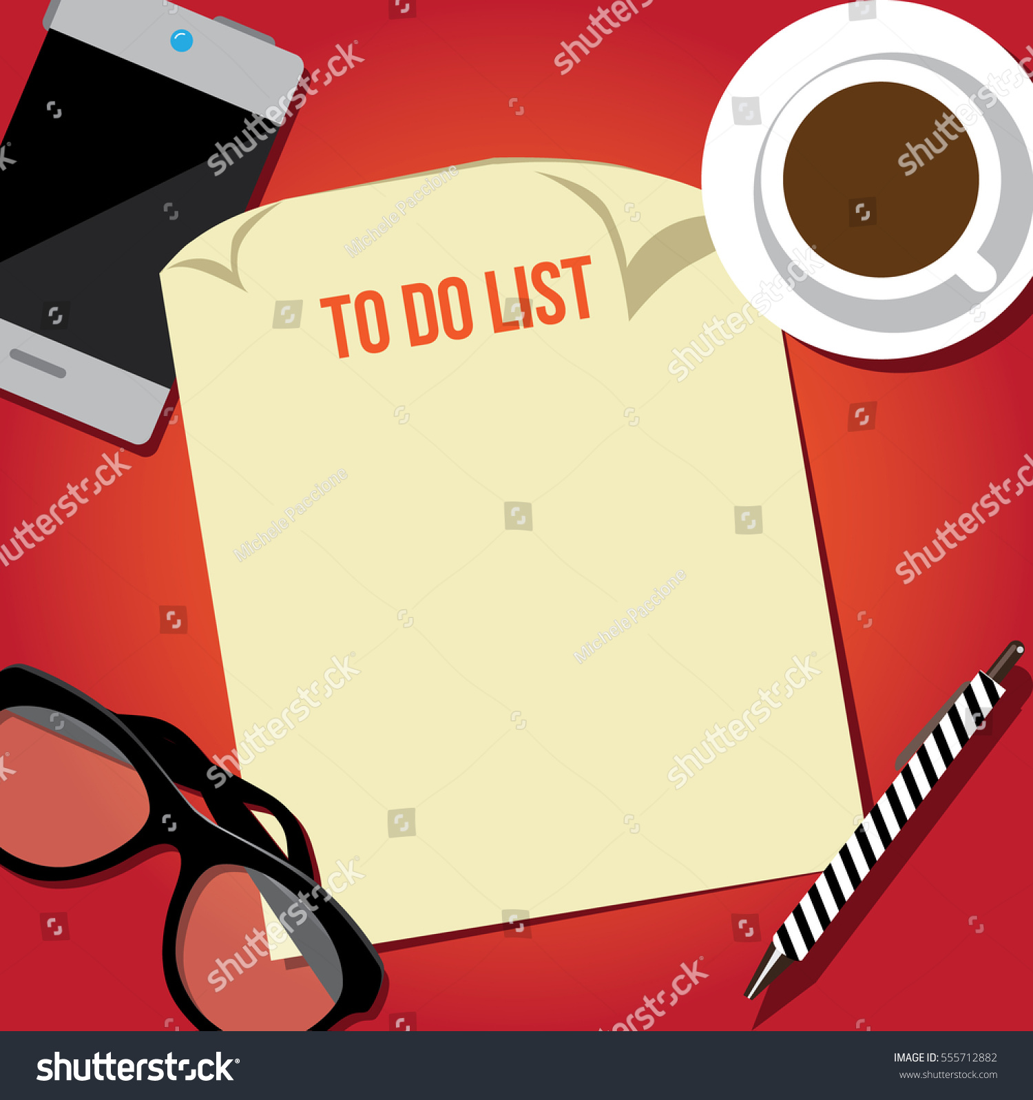 flat design do list background paper stock vector royalty free