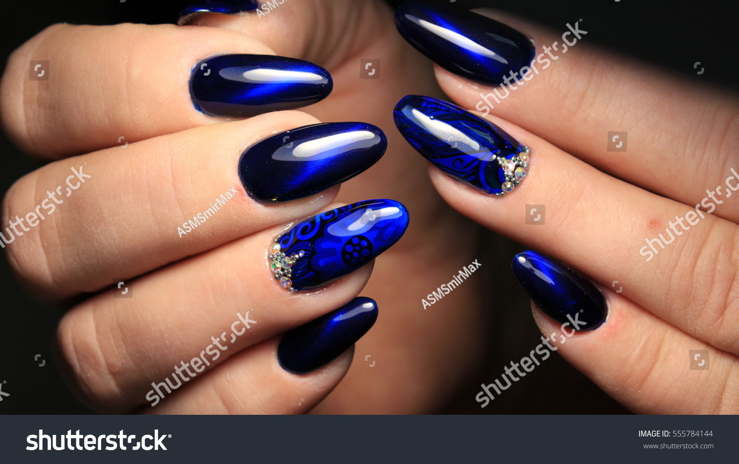 Nail Design Bright Lady Colors Gel Stock Photo Edit Now 555784144