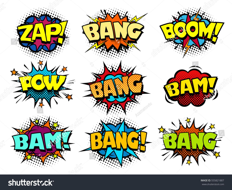 Comic Book Speech Bubbles Cool Blast Stock Vector