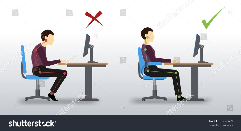 Good Posture At Computer Desk Hostgarcia