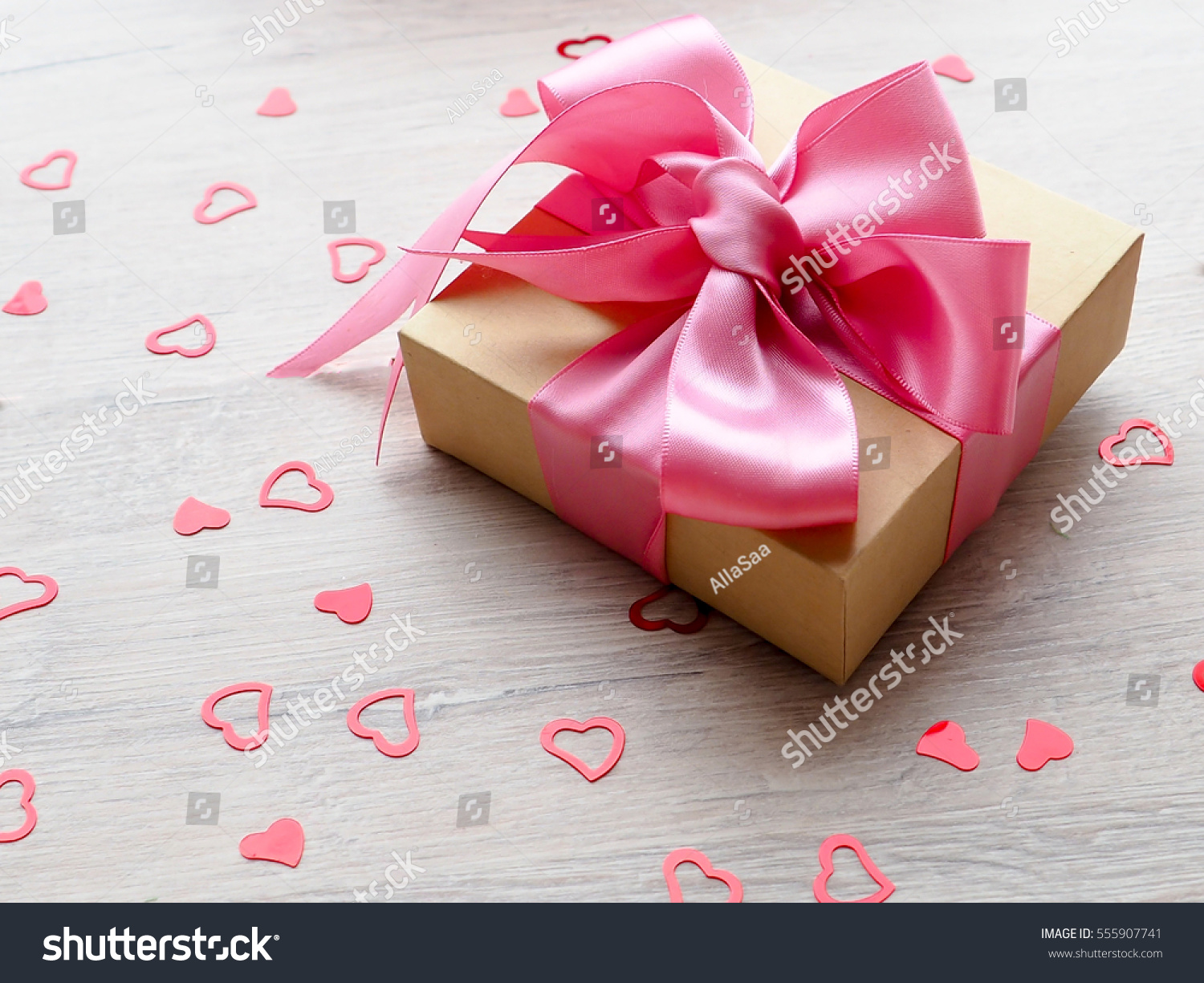 Cute Decorated Gift Pack Present Pink Stock Photo (Edit Now ...