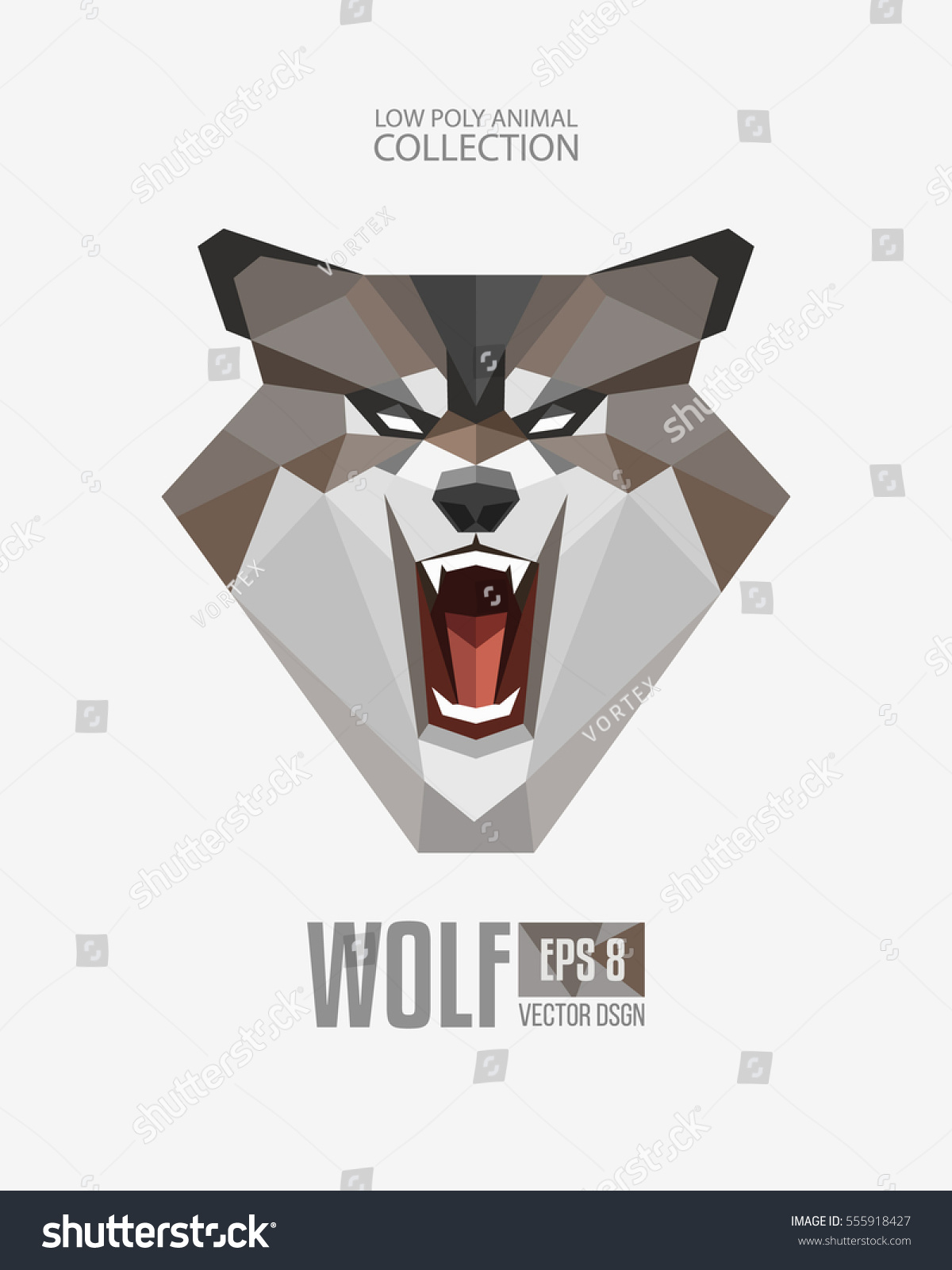 Tiger head triangular icon geometric trendy stock vector image - Polygon Style Angry Wolf Roaring Mascot Face Head Geometric Logo Emblem Modern Geometric Triangular Animal