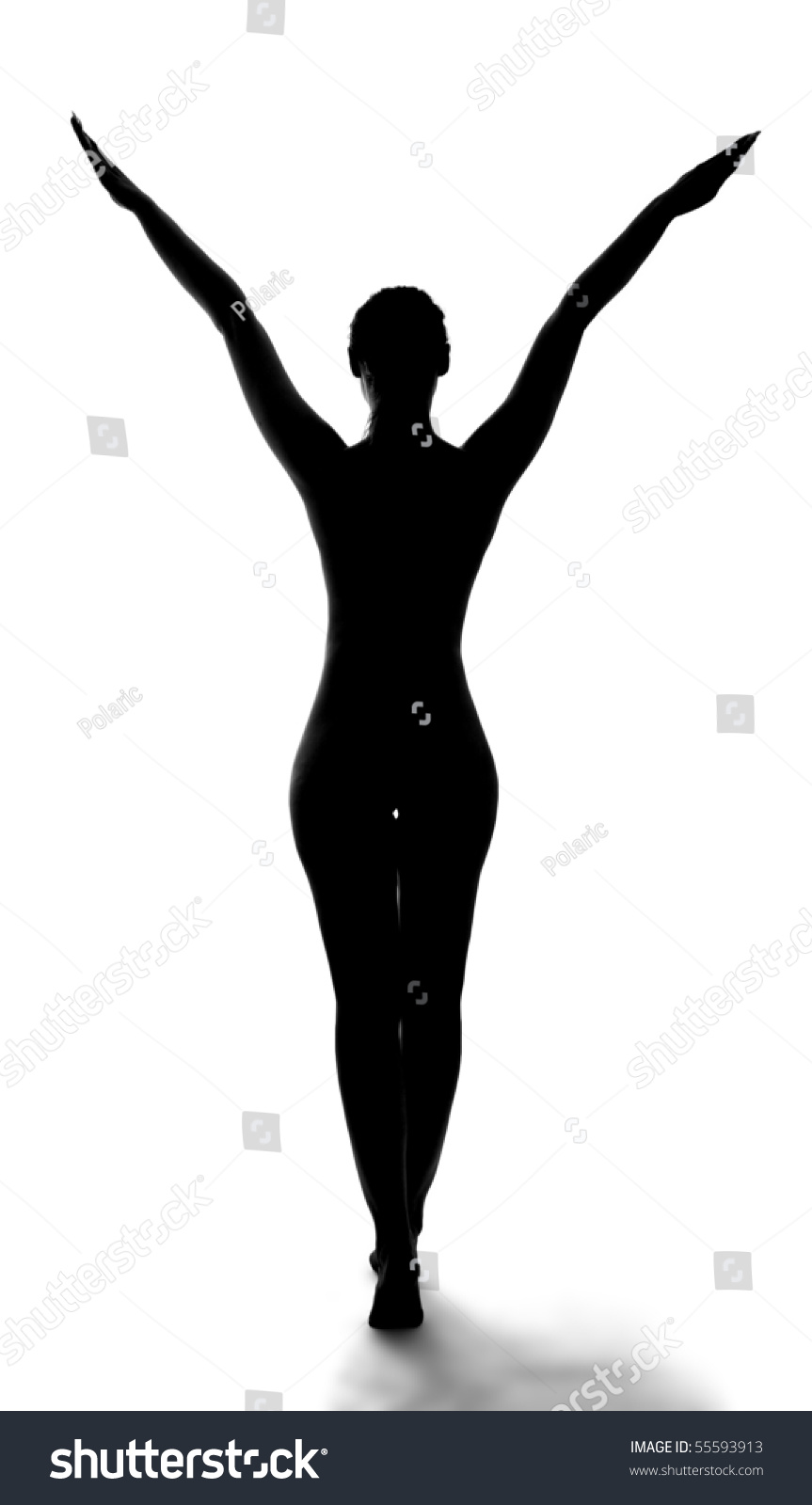 Silhouette Male Figure On White Isolated Background Stock ...